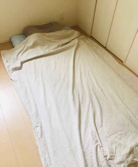 掛けふとんカバーだけで寝る