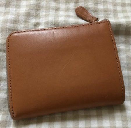 お手入れ後の革財布